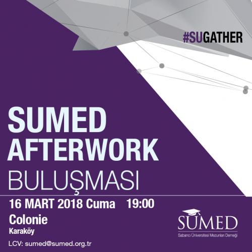 SÜMED Afterwork Buluşması  – 16 Mart Cuma / Colonie Karaköy