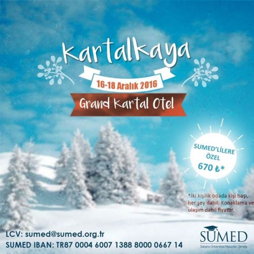 SUMED'le Kartalkaya: 16-18 Aralık 2016
